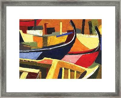 Boatyard Framed Print by Ahmed Amir