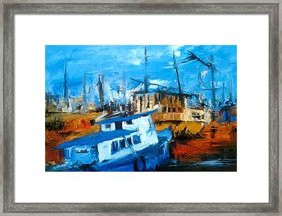 Boatyard Framed Print by Amir