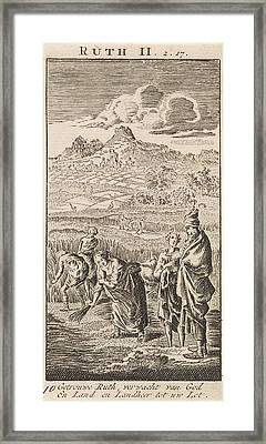 Boaz And Ruth, Jan Luyken, Anonymous Framed Print