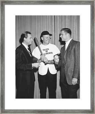 Bob Barker & Don Drysdale Framed Print