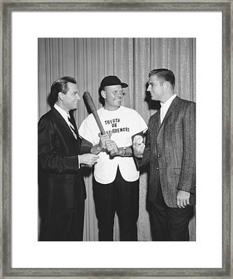 Bob Barker & Don Drysdale Framed Print by Underwood Archives