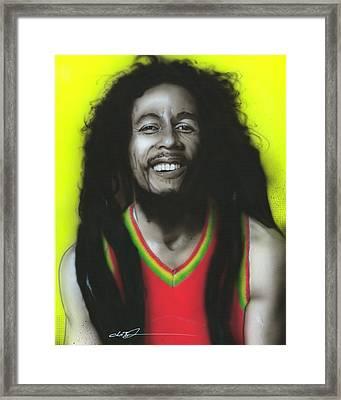 Bob Marley - ' Bob ' Framed Print