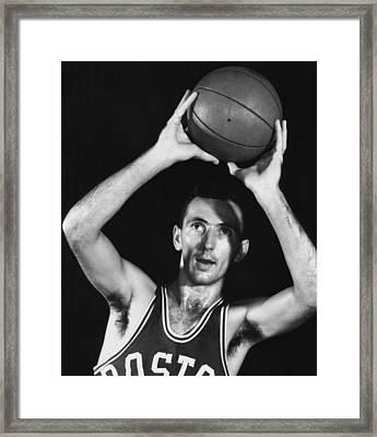 Bob Cousy Of The Boston Celtics 1950s Framed Print