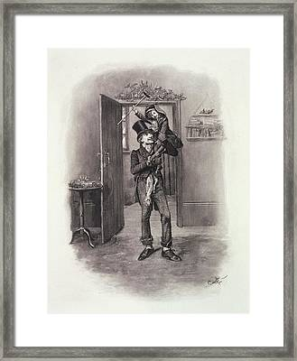 Bob Cratchit And Tiny Tim Framed Print