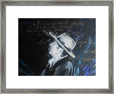 Bob Dylan - Blowing In The Wind Framed Print by Lucia Hoogervorst