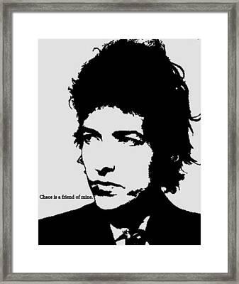 Bob Dylan Framed Print by Cat Jackson