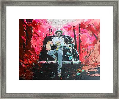 Bob Dylan - Crossroads Framed Print by Lucia Hoogervorst