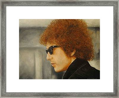 Bob Dylan IIi Framed Print by David Dunne