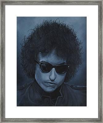 Bob Dylan Iv Framed Print by David Dunne
