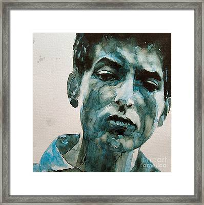 Bob Dylan Framed Print by Paul Lovering