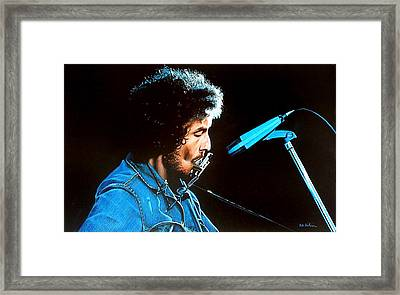Bob Dylan Portrait Framed Print by Robert Korhonen