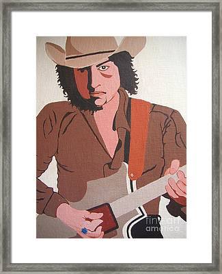 Bob Dylan - Celebrities Framed Print by Susan Carella