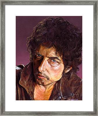 Bob Dylan Framed Print by Tim  Scoggins