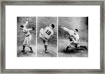 Bob Feller Pitching Framed Print