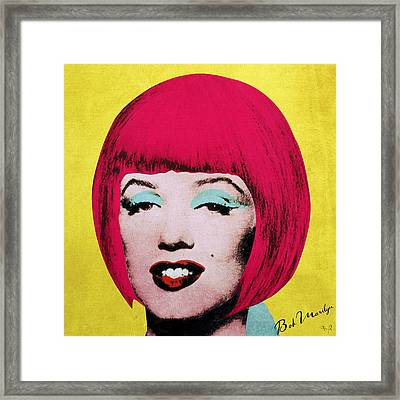 Bob Marilyn  Variant 1 Framed Print by Filippo B