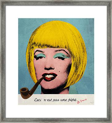 Bob Marilyn  With Surreal Pipe Framed Print by Filippo B