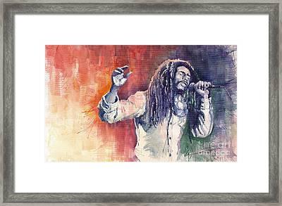 Bob Marley 01 Framed Print by Yuriy  Shevchuk