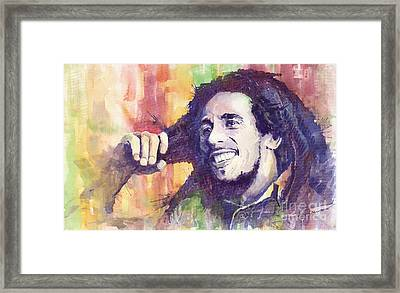Bob Marley 02 Framed Print by Yuriy  Shevchuk