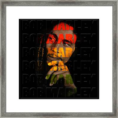 Bob Marley 1 Framed Print by Andrew Fare