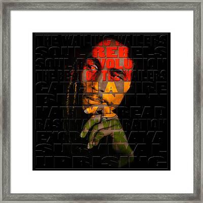 Bob Marley 2 Framed Print by Andrew Fare