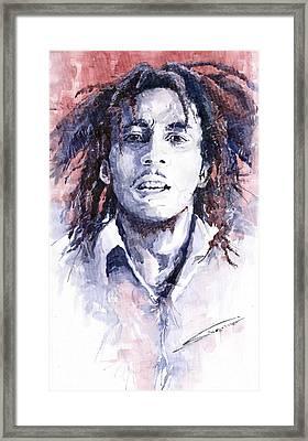Bob Marley 3 Framed Print by Yuriy  Shevchuk