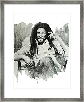 Bob Marley 5 Framed Print