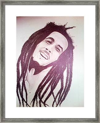 Bob Marley Framed Print by Aileen Carruthers
