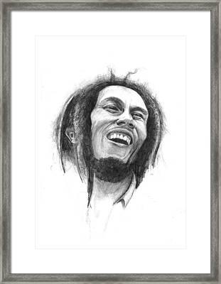 Bob Marley Framed Print by Allan Swart