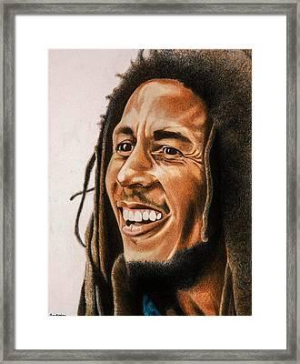 Bob Marley Framed Print by Brian Broadway