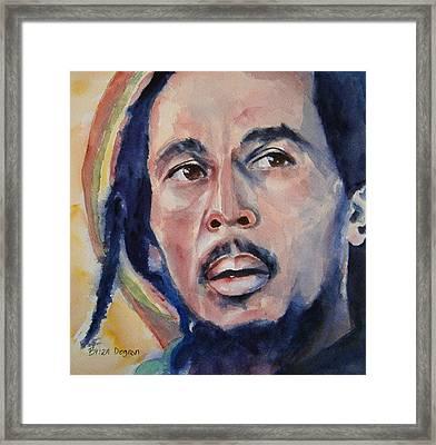 Bob Marley Framed Print by Brian Degnon