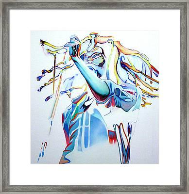 Bob Marley Colorful Framed Print by Joshua Morton