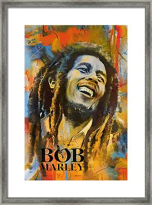 Bob Marley Framed Print by Corporate Art Task Force