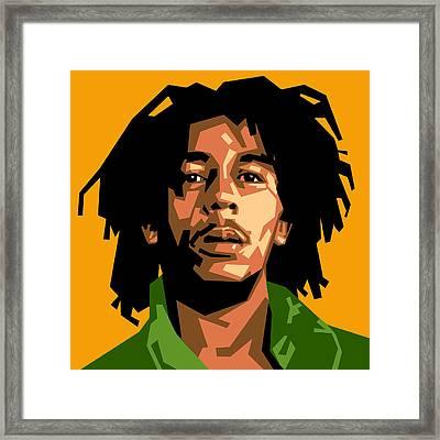 Bob Marley Framed Print by Douglas Simonson