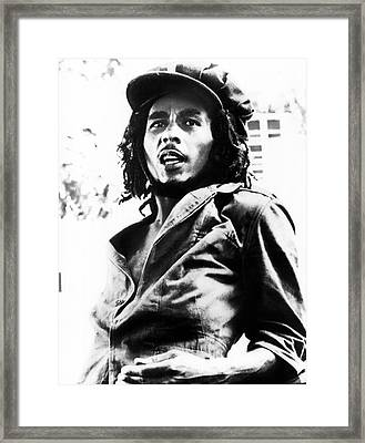 Bob Marley In His Youth Framed Print by Retro Images Archive