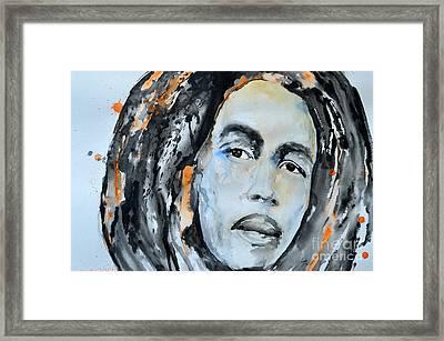Bob Marley Framed Print by Ismeta Gruenwald