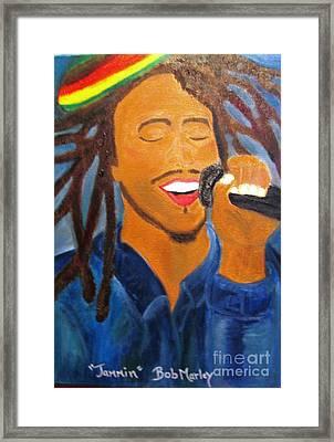 Bob Marley Jammin Framed Print
