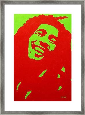 Bob Marley Framed Print by John  Nolan