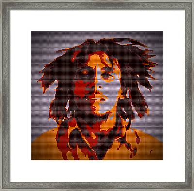Bob Marley Lego Pop Art Digital Painting Framed Print