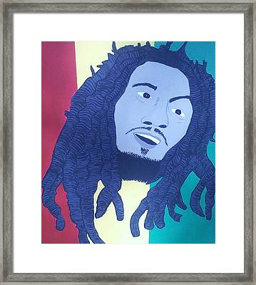 Bob Marley Framed Print by Lew Griffin