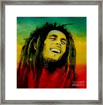 Bob Marley Framed Print by Lin Petershagen