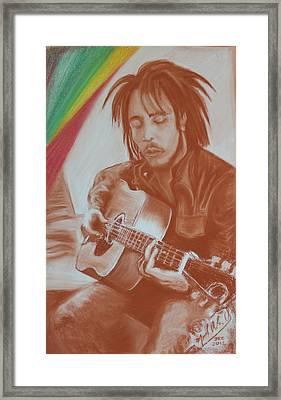 Bob Marley Framed Print by Miguel Rodriguez