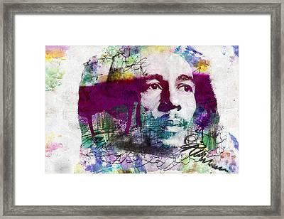 Bob Marley One Love Framed Print by Jonas Luis