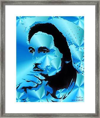 Bob Marley Portrait Framed Print by Stefon Marc Brown