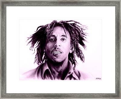Bob Marley   Purple Haze Framed Print by Andrew Read