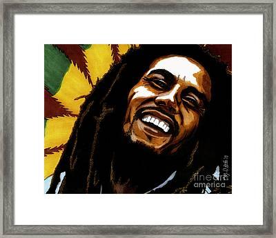 Bob Marley Rastafarian Framed Print