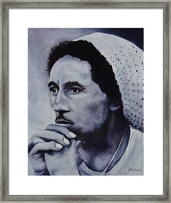 Bob Marley Framed Print by Stefon Marc Brown