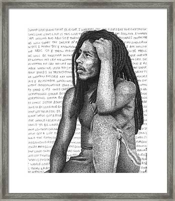 Bob Marley Framed Print by Timothy Glasby