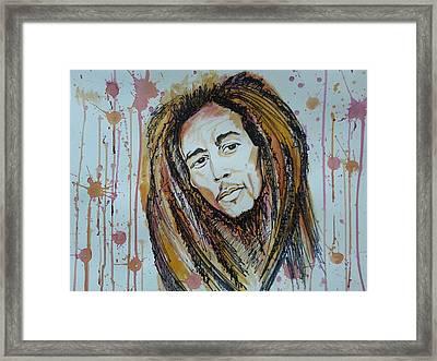 Bob Marley Framed Print by Vidya Vivek