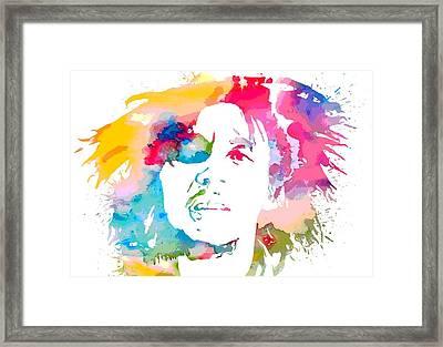 Bob Marley Watercolor Portrait Framed Print