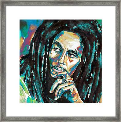 Bob Marley Watercolor Portrait.7 Framed Print by Fabrizio Cassetta